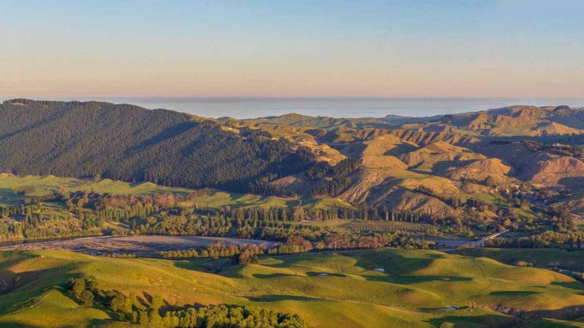 The view from Te Mata peak in the Hawke's Bay region
