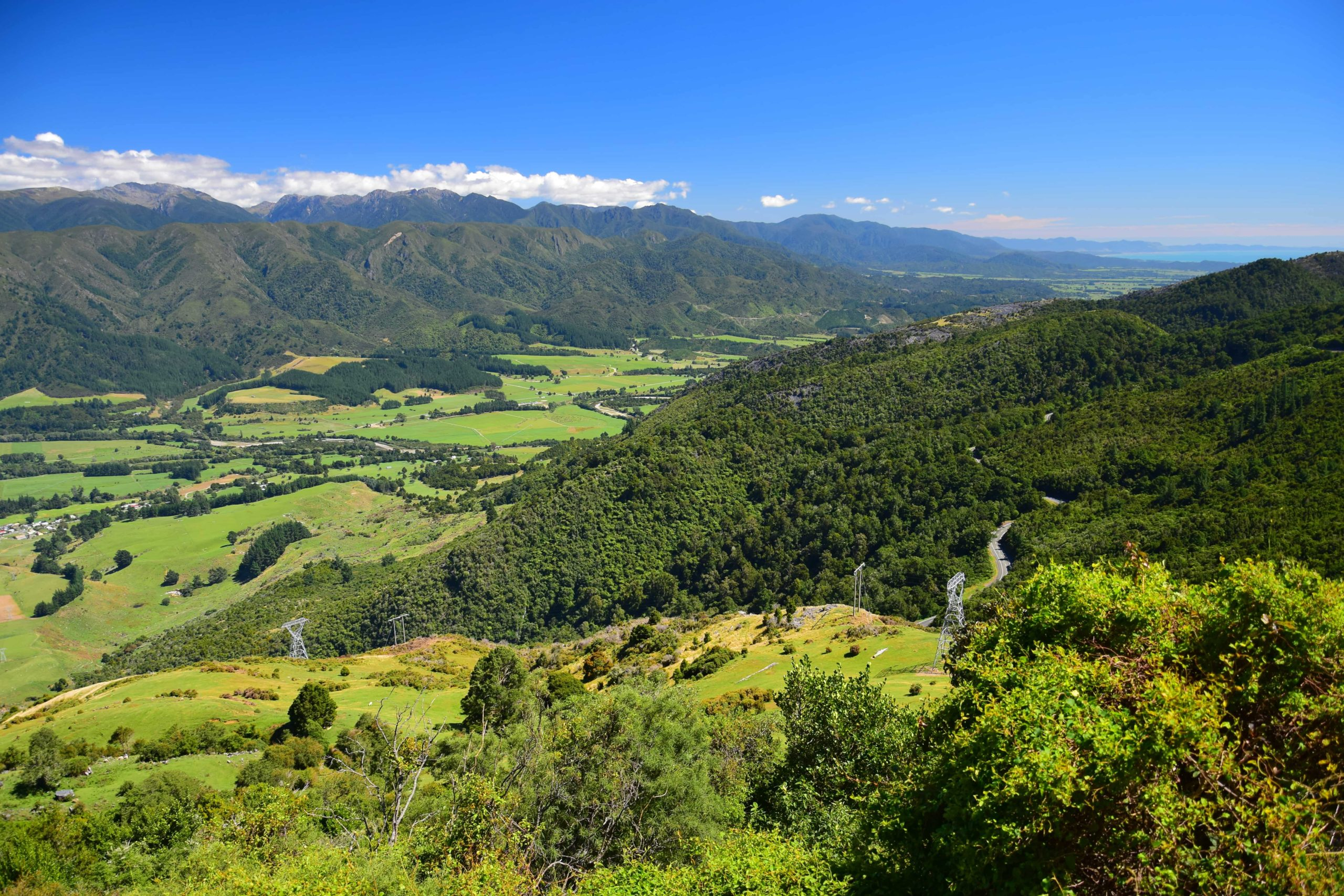 The mountainous landscape of the Nelson region