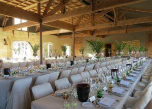 Château Kirwan - Big tables for an event