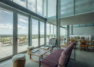 Viña Edén_Tasting lounge with an amazing view