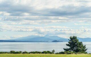 The view on lake Taupoin the Waikato region