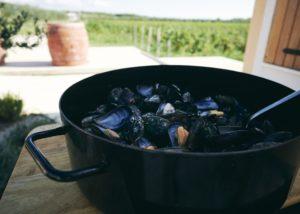 Baraka Winery - mussels & vineyard