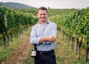Weingut Alphart - bottle in the vineyard