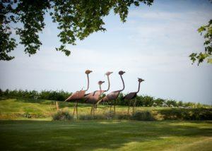 Château Kirwan - Bird sculptures in the garden