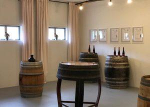 The tasting room at the Weingut Robert König
