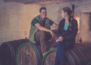 Weingut Sanders&Sanders_winemakers in the barrel room_8