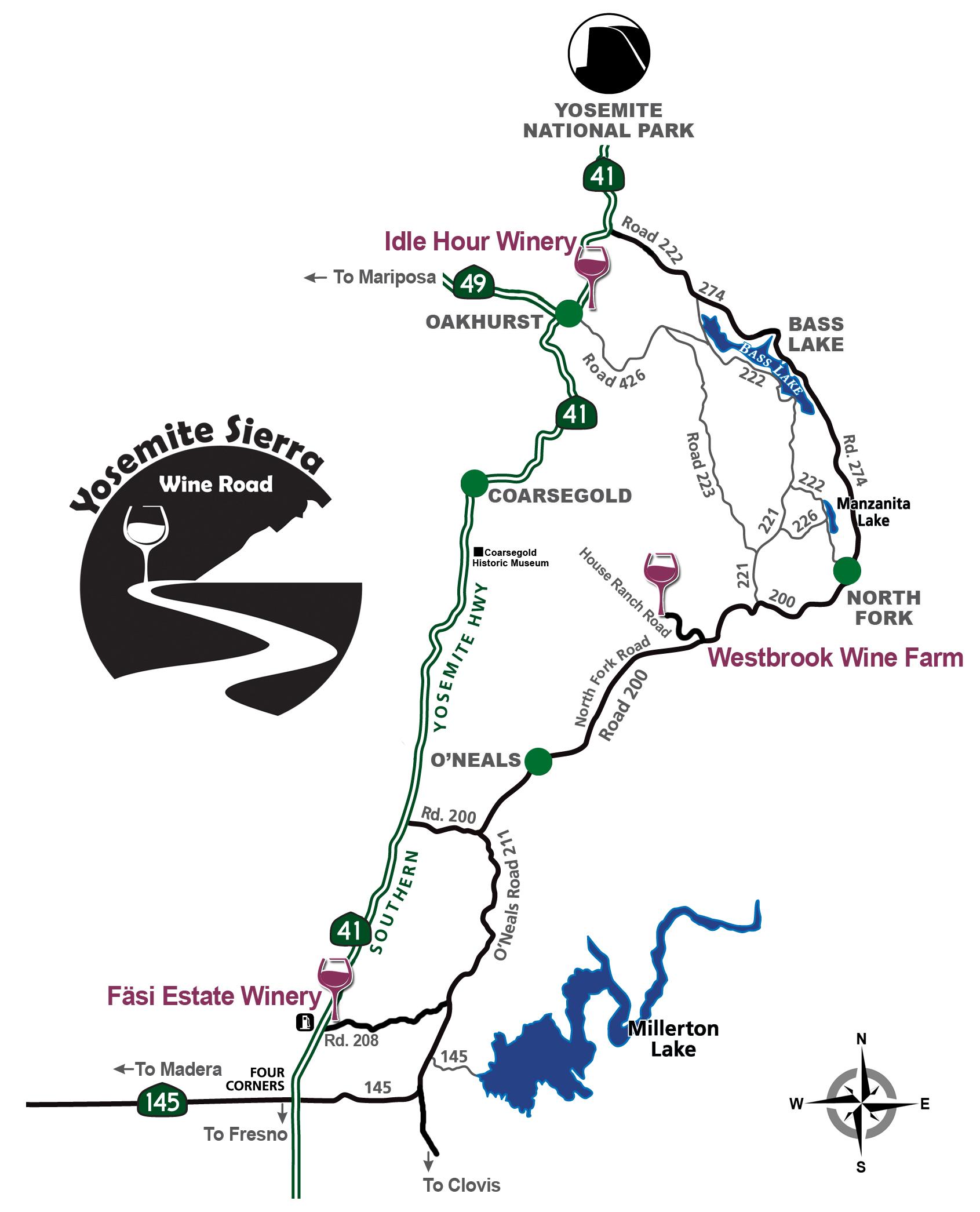 Westbrook Wine Farm Map trip