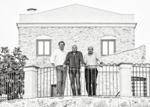 Tenute Lombardo winery owners around the building located in Italy