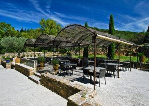Abbaye de Fontfroide Table de Fontfroide restaurant