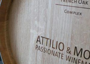 attilio & mochi wooden barrel for wine aging in the winery