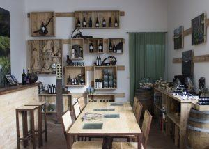 Magnificent wine tasting room at the Girasoli di Sant`Andrea winery.