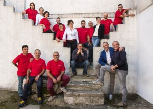 castel di salve winemakers team in beautiful estate in italy