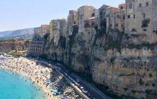 Tropea cliff in Calabria wine region in Italy