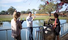balnaves of coonawarra three simmeliers tasting lovely wines against lake