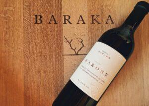 baraka winery bottle of amazing red wine from the winery