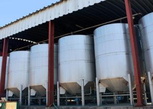 beira serra vinhos large steel tanks for wine production in portugal