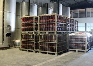 beira serra vinhos many wine bottles of wine inside cellar in portugal