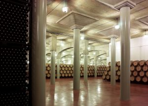 Bodegas Ramirez de la Piscina winery cellar in Spain