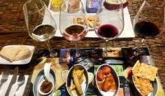 bodega sarmentero beautiful wine and food ready for tasting inside winery