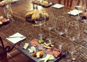 bodega sarmentero amazing food and wine prepeared for tasting session