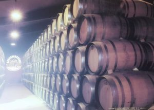 Bodegas Fernández de Piérola winery cellar with wooden barrels