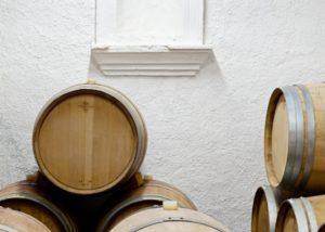 can calopa de dalt wooden barrels for wine aging inside wine cellar
