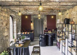The tasting room at Château de Tauziès