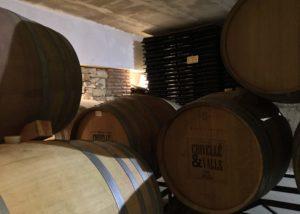crivellé i valls wooden barrels for wine aging inside cellar