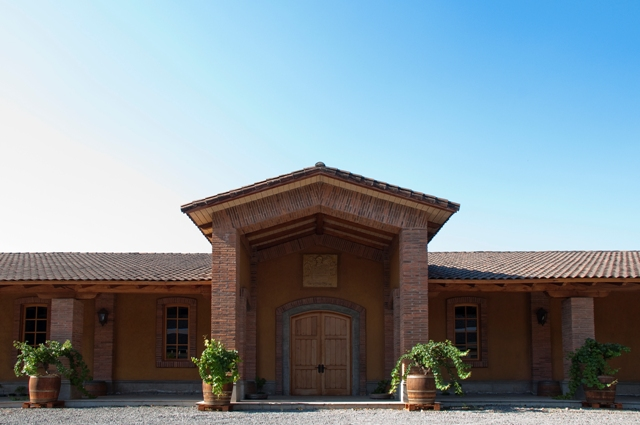 de martino entrance to the beautiful estate in chile