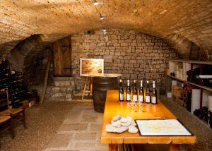 The tasting room at Domaine Celine et Frederic Gueguen