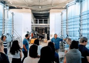 Domaine de Rocheville - Loire - visit in stainless steel tanks room