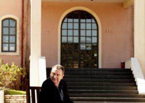 domaine skouras owner of the winery near estate in lovely greece