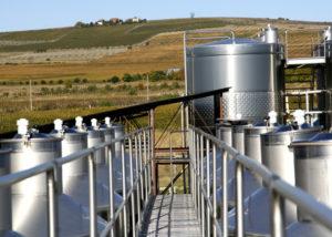 domeniile sahateni large steel tanks for wine production in romania