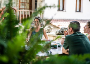 dourakis winery visitors tasting amazing wines and food near winery