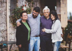dourakis winery winemakers family near winery in lovely greece