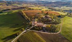 Tenuta di Tavignano winery overview from the sky in Italy