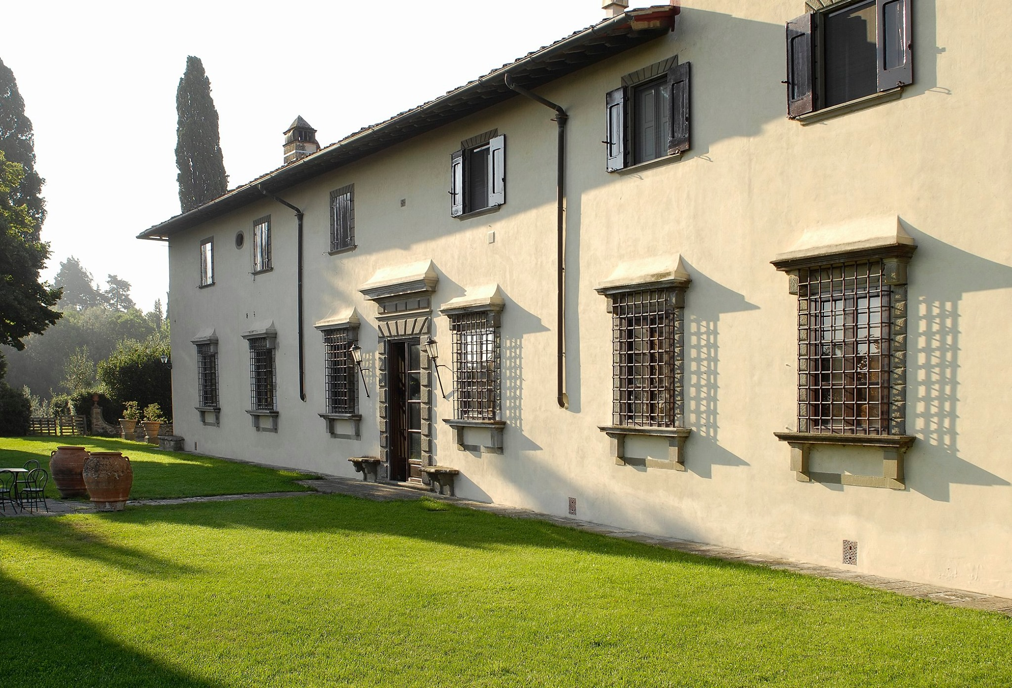 Beautiful estate and courtyard in the winery Fattoria Montanine.