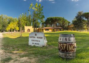 Tenuta Canto alla Moraia winery estate overview with logo in Italy