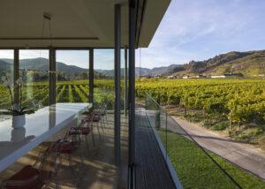 f. x. pichler amazing courtyard against lush vineyards in austria