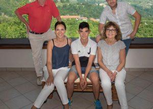 Family of winemakers amid the striking surroundings of the Giribaldi winery.