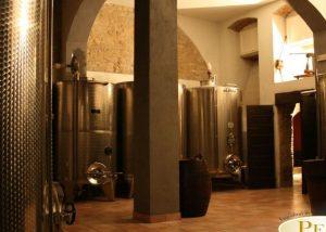 modern wine tanks in the laboratory of the peri bigogno winery.
