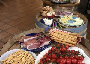 A lot of food at Domaine de la Mordorée
