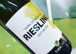 franz-josef eifel bottle of beautiful wine from german winery