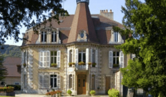 The castle with blue sky at Fruitière Vinicoles d'Arbois