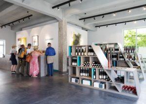 georg breuer visitors tasting beautiful wines in the tasting room