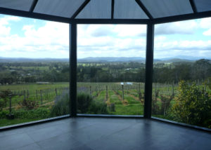 grey sands winery lush vineyards against beautiful courtyard