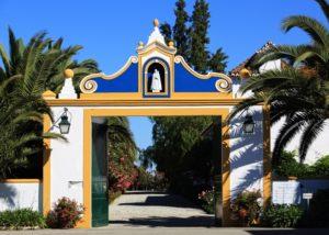 herdade da calada amazing and colorful gates to the estate in portugal