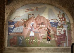 hilo de ariadna antique styled murals on the walls inside estate