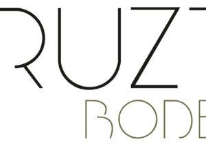 hiruzta bodega beautiful black and white logotype with name of winery