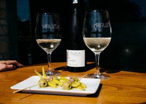 hiruzta bodega stunning white wine and delicious food prepeared for tasting